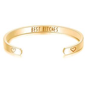 Best Bitches Bracelet/Cuff/Bangle Gold - NWOT